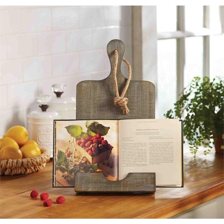 Rustic Cookbook Holder #greykitchens