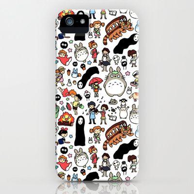 Kawaii Ghibli Doodle iPhone & iPod Case by KiraKiraDoodles - $35.00