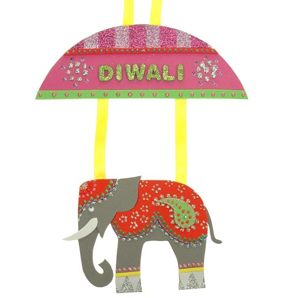 Diwali Elephant | Free Craft Ideas | Baker Ross Celebrate the Hindu festival of lights with a beautiful decorated elephant