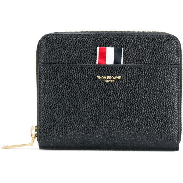 Thom Browne zip around wallet (€555) ❤ liked on Polyvore featuring bags, wallets, black, zip around coin purse, zipper wallet, zip coin pouch, zip bag and thom browne wallet
