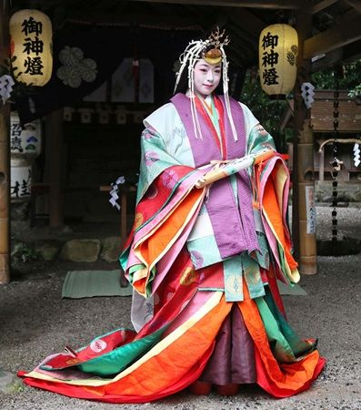 Kyoto-- Juni hitoe-- 12 layers kimono Loved living in Japan maybe we'll go back someday!