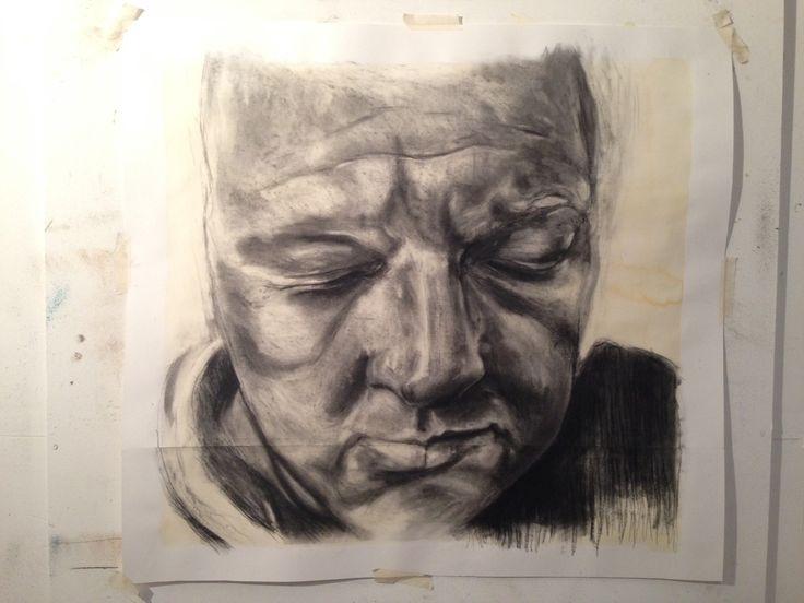 Un finished image.Self portrait.