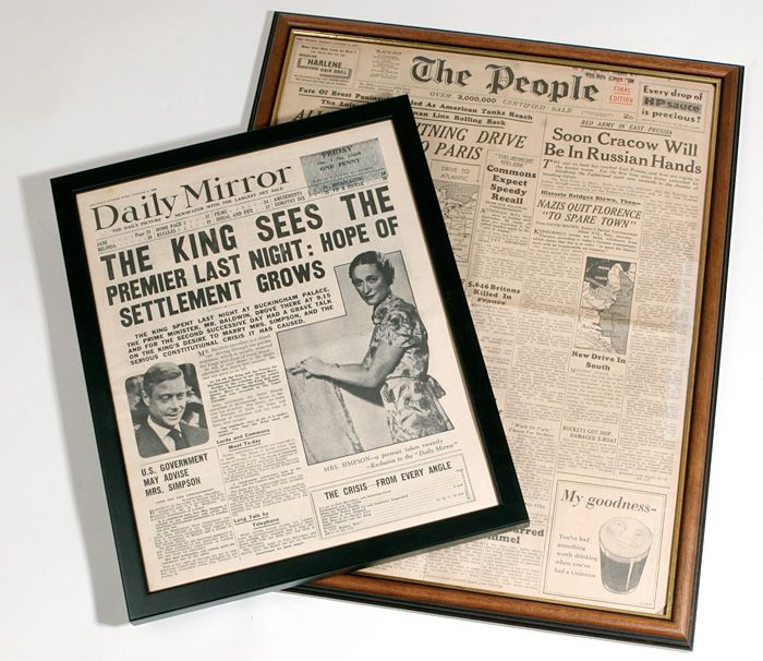 Great idea for old 1922 newspaper I found in the house foundation ...