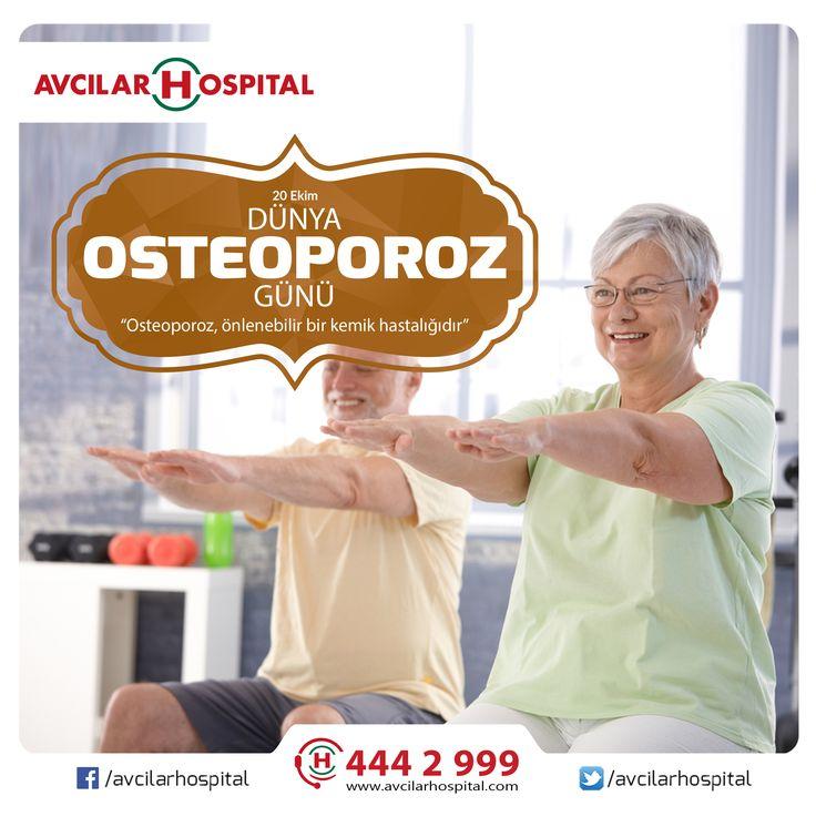 Kemik erimesi olarak da bilinen 'Osteoporoz' kemiklerdeki kalsiyum kaybının artarak kolayca kırılabilir hale gelmesidir.  Osteoporozdan korunmak ve sağlıklı kemikler için; • Aktif bir yaşam tarzı • Kalsiyumdan zengin gıdalar ile beslenme • Güneş ışınları ve D vitamini  #kemikerimesi #osteoporozgünü #20ekim #kemik #kalsiyum #dvitamini #saglik #saglikliyasam #spor #dünyaosteoporozgünü #istanbul #avcilar #avcilarhospital