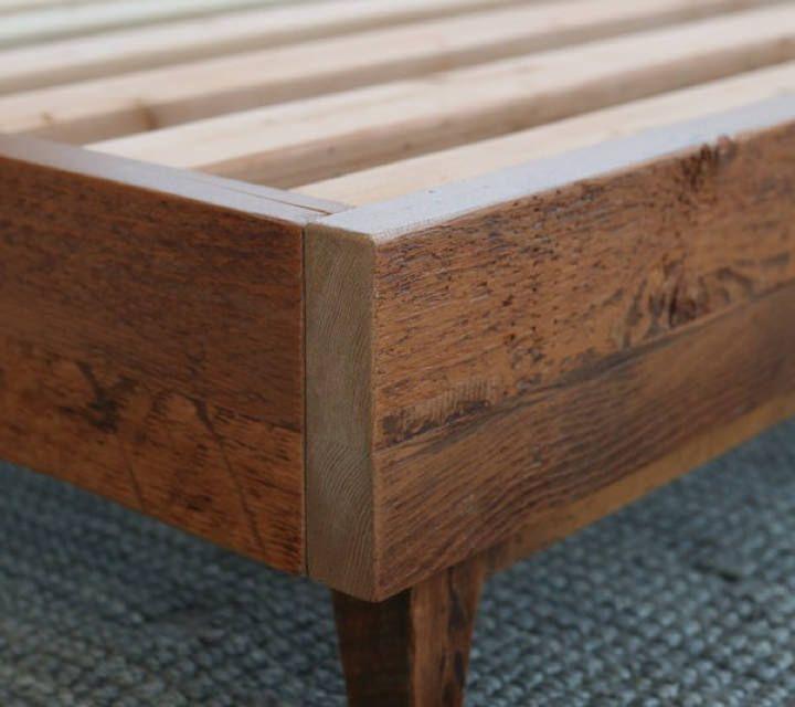 Natural Wood Bed Frame Avocado Green Mattress Natural Wood Bed Wood Bed Frame Wood Beds