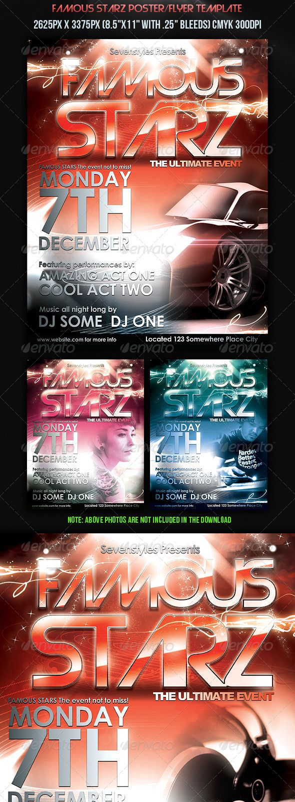 8 5x11 poster design - Famous Starz Flyer Poster Template