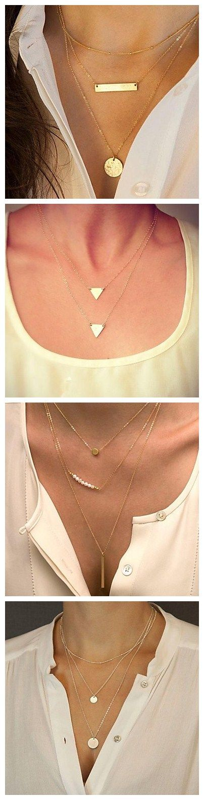 Delicate multilayer necklaces are perfect for your spring wardrobe. Find the one that's right for you!