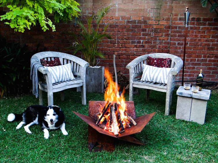 Settle in for a quiet night around the Fire-Away fire pit with good company and your drink of choice. Outdoor Living Done Well  www.fire-away.com.au