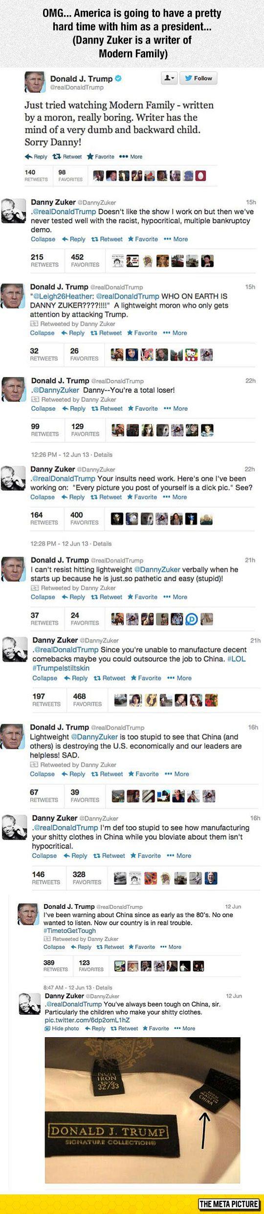 Donald Trump Vs. Modern Family Writer - BOOM GOES THE DYNAMITE.