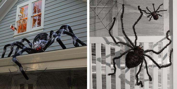 giant spiders spider webs halloween decorations halloween pinterest halloween halloween. Black Bedroom Furniture Sets. Home Design Ideas
