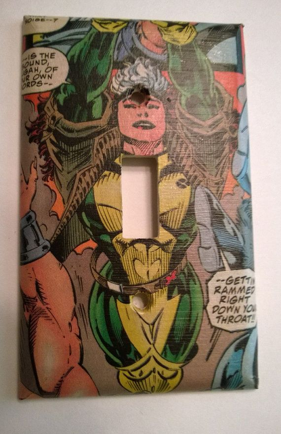 Rogue Comic Book superhero light switch cover by PastePotPrefects