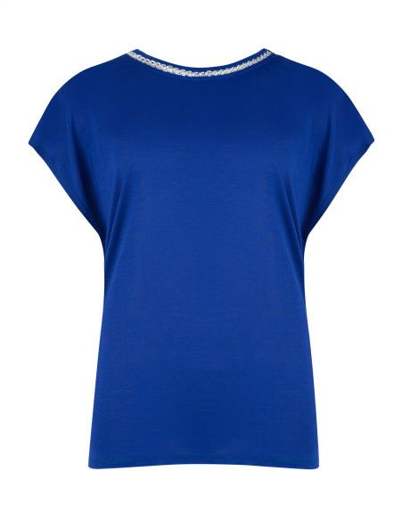 Chain detail top - Bright Blue   Tops & T-shirts   Ted Baker UK