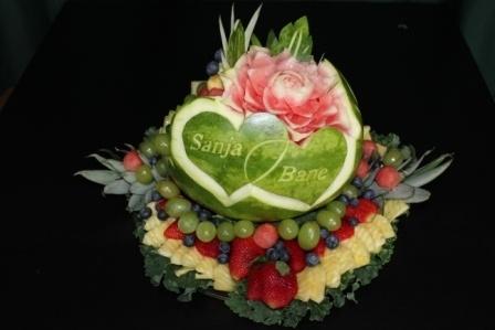 Hearts fruit bowl
