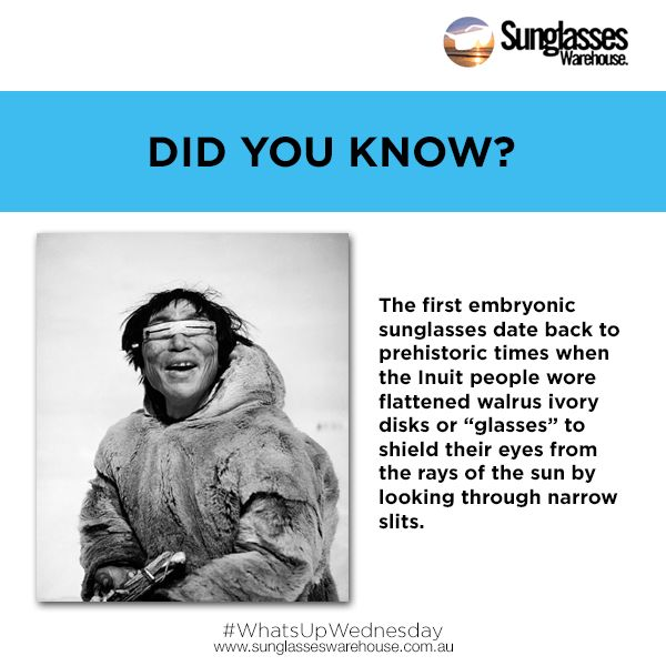 #WhatsUpWednesday: Who knew that sunglasses were made already present during the prehistoric times?  Watch out for more fun facts!