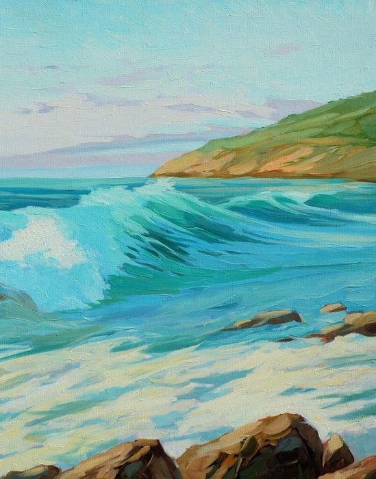 Rocks Impressionist from $34.99  | www.wallartprints.com.au #ImpressionismArt