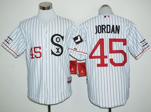 huge selection of d4f4c f5550 White Sox #45 Michael Jordan White(Black Strip) Cooperstown ...