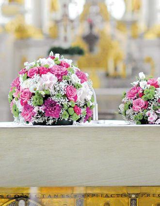 Hochzeitsblumen, Trauung, Zeremonie, Katholisch, Evangelisch, Freie Trauung, Dekoration, Blumen