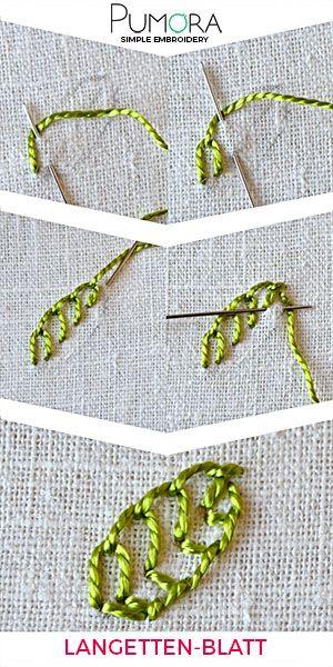 Blumen sticken: Langettenstich Blumen