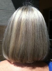 Blending Gray Hair With Lowlights Grey Hair Ideas In