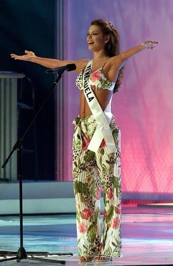 Mariangel Ruíz Miss Venezuela 2002. en Panamá en los Ensayos del Miss Universe 2003..