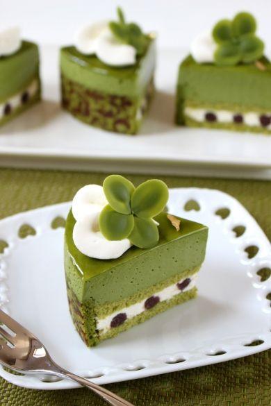 「クローバーの抹茶ケーキ」ナナママちゃん | お菓子・パンのレシピや作り方【corecle*コレクル】