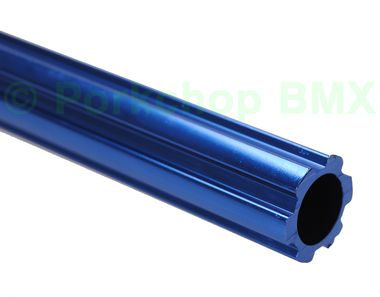 """Fluted aluminum alloy old school BMX bicycle seat post 22.2mm (7/8"""""""") - 450mm - COBALT BLUE ANODIZED"""