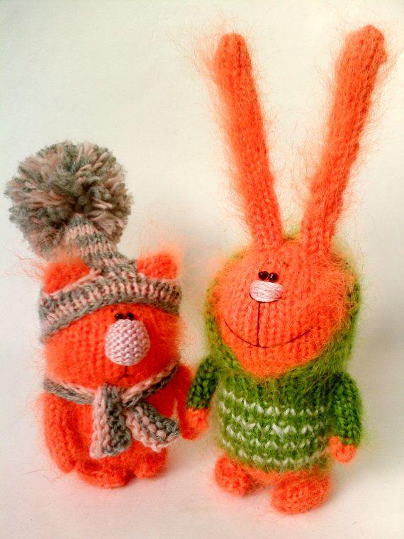 Fluffy Toys   Amigurumi  Miniature Animals Rabbit от MiracleStore, $36.00