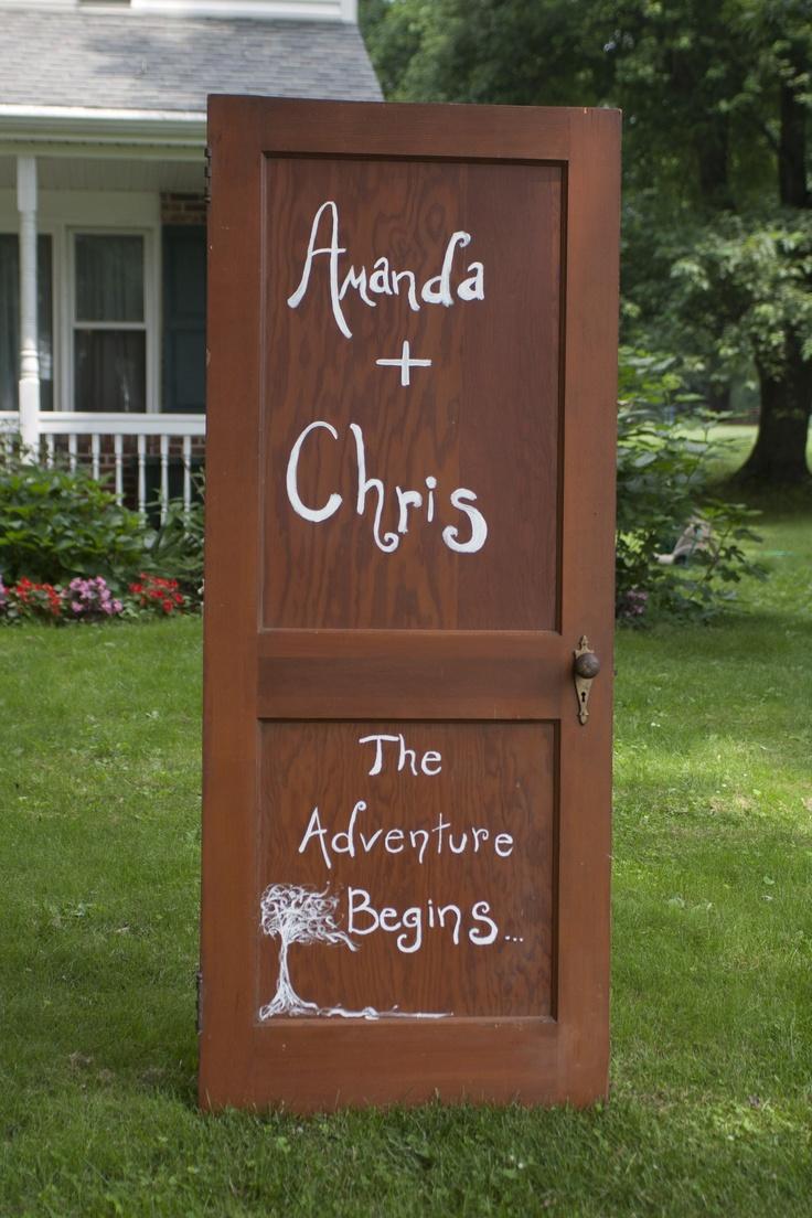 doorway to our backyard wedding