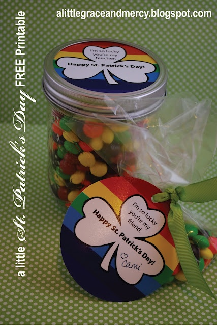 St. Patrick's Day gift tag for Teachers or friends - FREE Printable