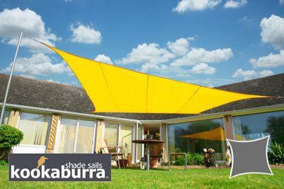 Tende a vela Kookaburra - Rettangolare 5,0m x 4,0m Giallo Tessuto Impermeabile €129,99