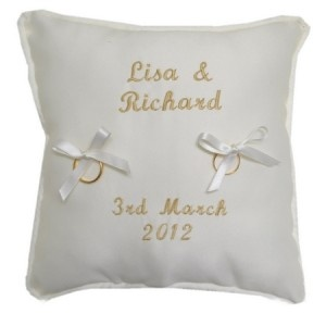 Personalised Piped Mini Ring Cushion