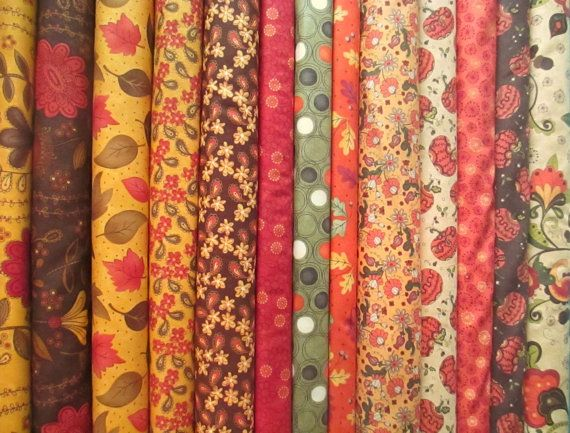Fall Autumn Fat Quarter Fabric Bundle - Sandy Gervais ...