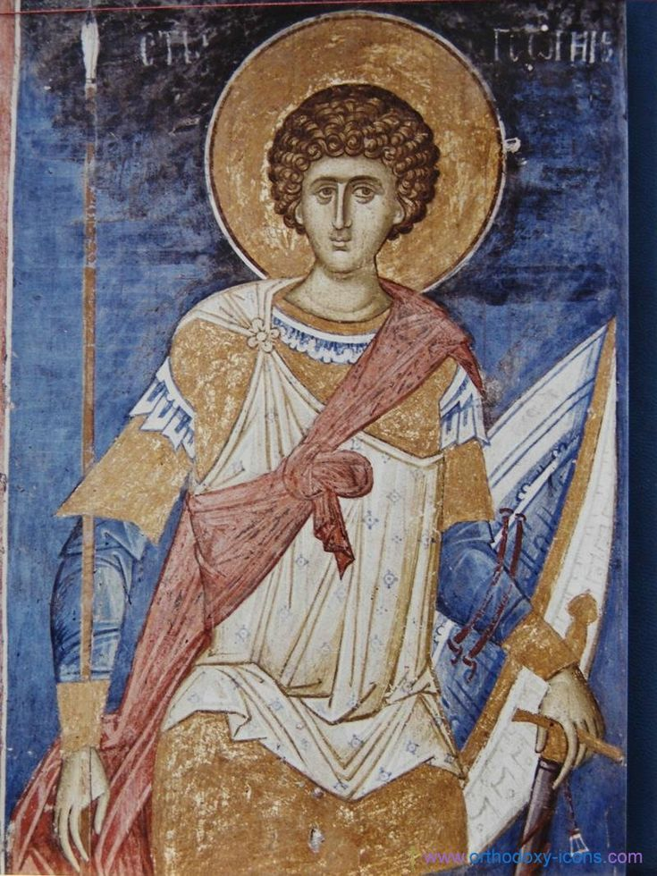 St. George. The frescoes of the monastery Decani (Kosovo)