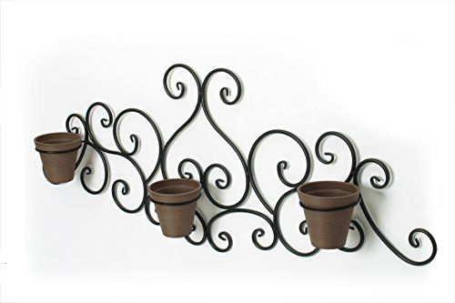 Algreen 60201 Victorian Scroll Wall Art with Planter, Brown #Algreen #Victorian #Scroll #Wall #with #Planter, #Brown