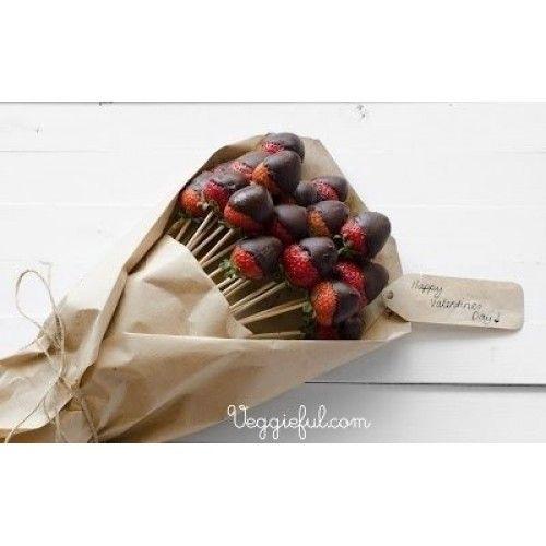 """Букет из клубники в шоколаде - """"Шоколадный каприз"""""""