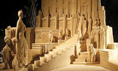 Sand Sculptures in the Eretz Israel Museum in Tel Aviv ♥