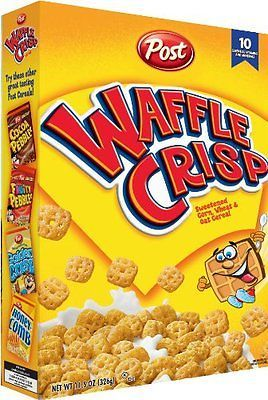 NEW Post Waffle Crisp Cereal 11.5-Ounce Boxes (Pack of 4) anyone else remember this? They were so good.