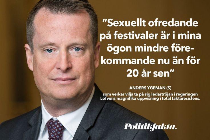"""Anders Ygeman (S): """"Sexuellt ofredande på festivaler är i mina ögon mindre förekommande nu än för 20 år sen"""""""