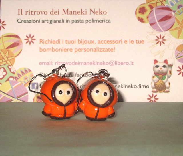 orecchini handmade Kenny - South Park #kenny #southpark #handmadecreations