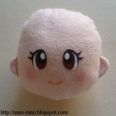 SIMPLE FELT DOLL: illustrated instructions includes patterns for eyes in this section. Eyes and mouth