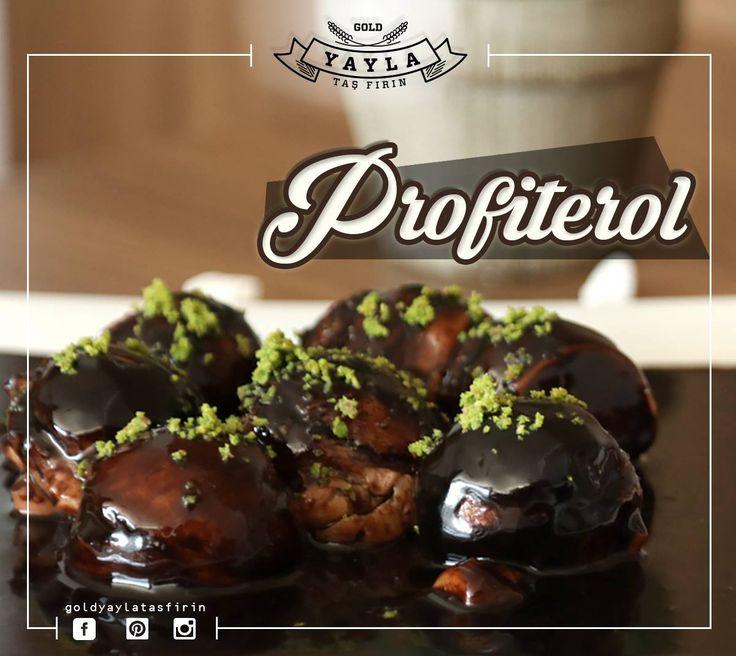 Küçük küçük lezzet bombaları! 😍  Profiterole kim hayır diyebilir ki? 😋 #profiterol #çikolata #kakao #fıstık #tatlırüyası İletişim / Rezervasyon : (0362) 437 32 32