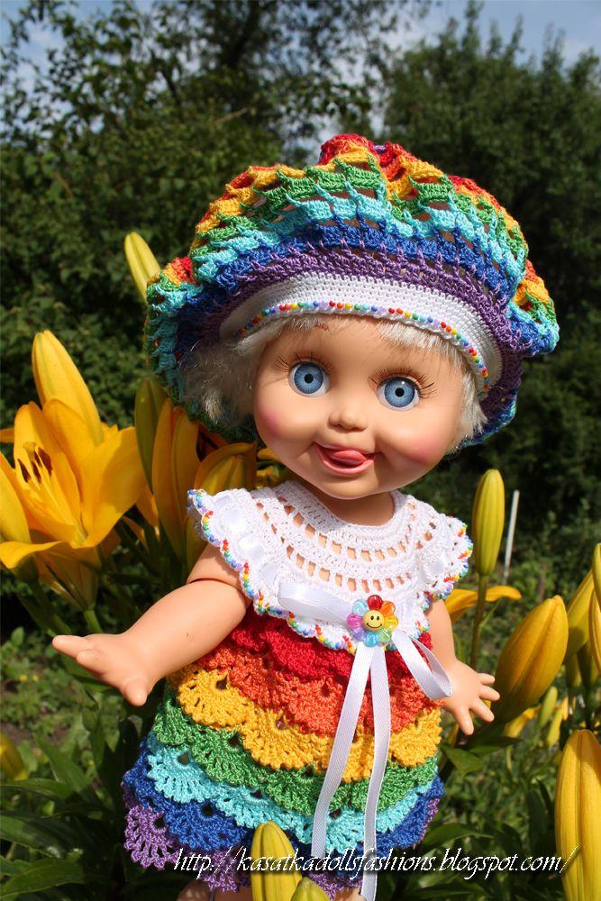 Наряд Радуга для кукол беби Фейс по мотивам русалочки (Rainbow outfit for Galoob Baby Face Dolls)