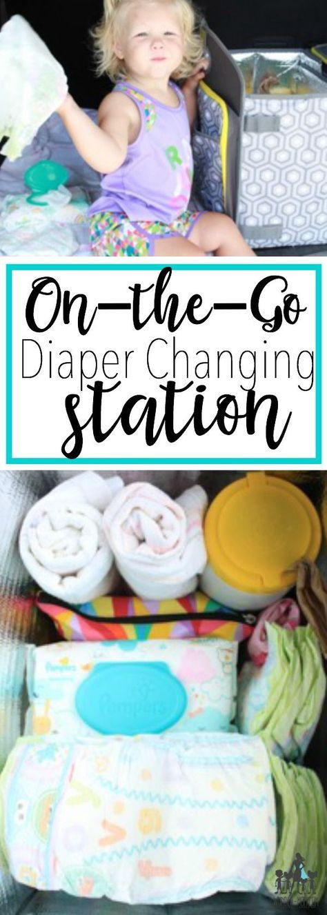 If you ever plan on leaving the house with your baby in tow you need to know how to stock up on diapers and you DEFINITELY NEED an on-the-go diaper changing station! Stocking up on diapers will save you time and money too! organize this on-the-go changing station so baby will always have a clean place to be changed. #ad