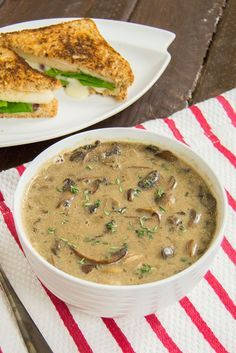 Best Ever Mushroom Soup! Everyone raves about how good this soup is! Super easy recipe, vegan, gluten free, low fat and so tasty!!  It really is great - a staple and keeps well if you make a batch for a week of lunches. Soooo good!