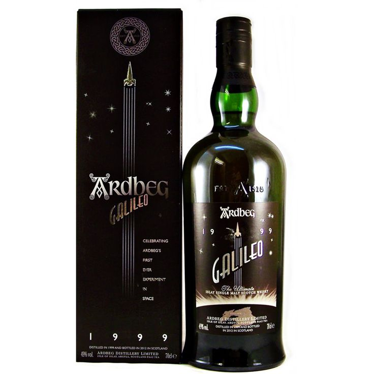 Ardbeg Galileo Malt Whisky 49V, 70cl Celebrating Ardbeg's first ever experiment in space available from specialist whisky Shop Stamford Bridge York