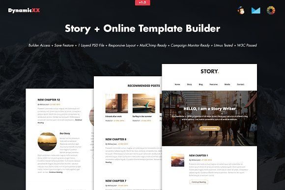 Story + Online Template Builder by DynamicXX on @creativemarket