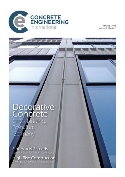 January's issue features Precast Concrete, Formwork and Falsework, Visual/Decorative Concrete, Floors and Screeds, High-Rise Construction, In-Situ/Ready-Mixed Concrete.