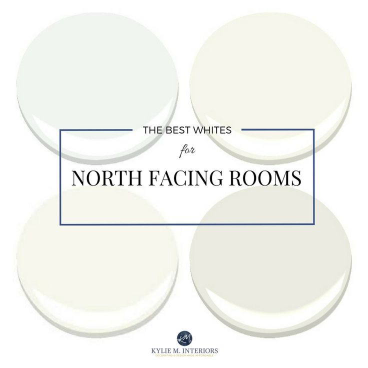 E-design expert Kylie M talks about the best white and off-white paint colours for a north facing room or a room with northern exposure by Kylie M Interiors E-design