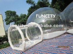 Clear inflatable tent for stargazing.: My Birthday