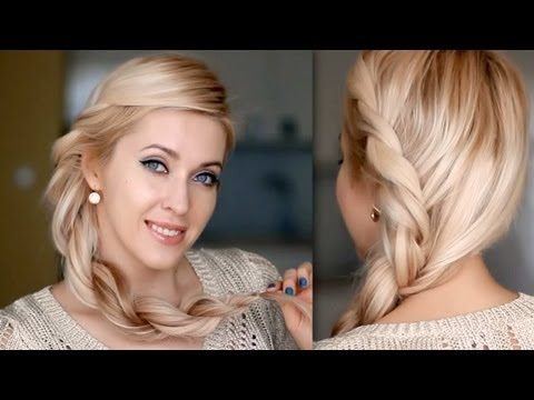 Summer hairstyle for long hair: twisted rope braid tutorial inspired by Rihanna - YouTube